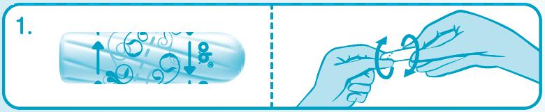 Введение тампона без аппликатора – шаг 1